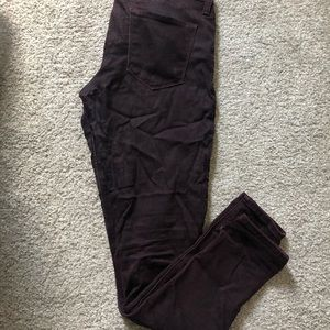 Just black brand maroon denim jeans